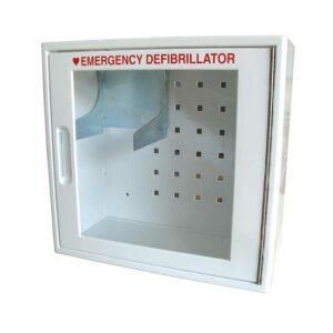 Armoire intérieure pour défibrillateur cardiaque avec alarme